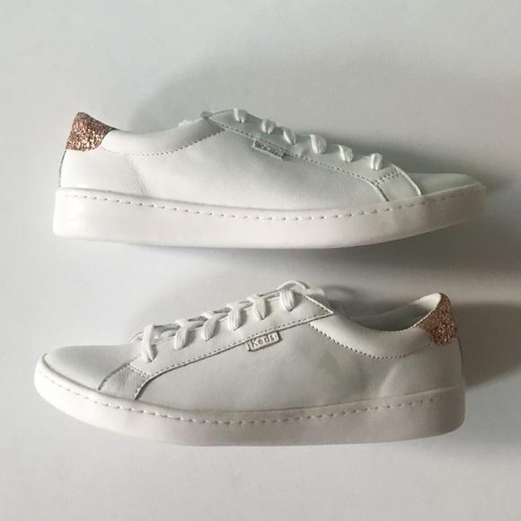 64c866e2beaf Kate Spade x Keds Leather   Glitter Sneakers 9